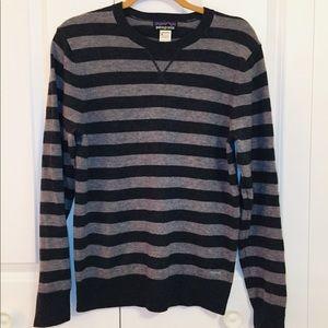 Patagonia Grey Striped Wool Cashmere Sweater